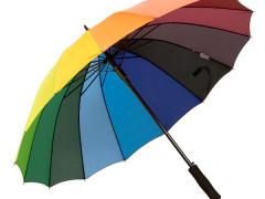 Titta närmare på paraplyet Regnbåge