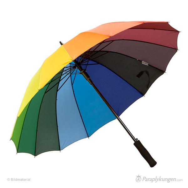 Reklam-paraply med tryck, Regnbåge, stor bild